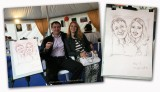Caricaturist for holiday, corporate RAO UES of Russia